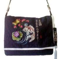 koi embroidered bag