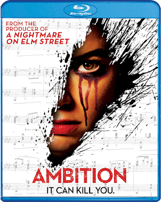 Cover art for Scream Factory's Blu-ray release of AMBITION (2019)!