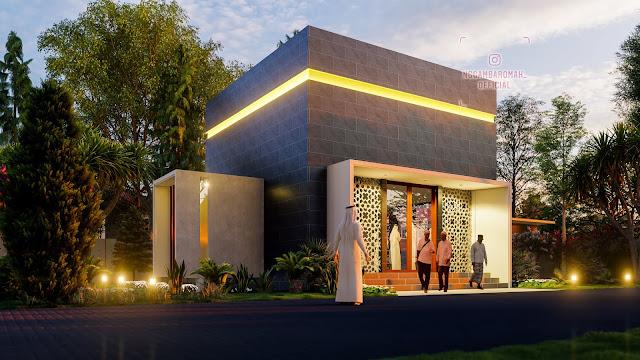 Wakaf Desain Mushola/Masjid 8x8 meter Style Kontemporer