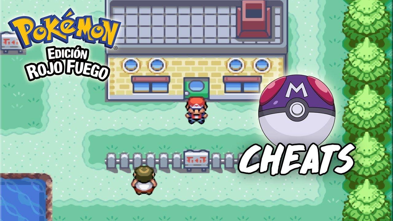 Cheat Como Conseguir Tener Master Ball Infinitas en Pokémon Rojo Fuego Fire Red y Verde Hoja para GBA en Android y PC