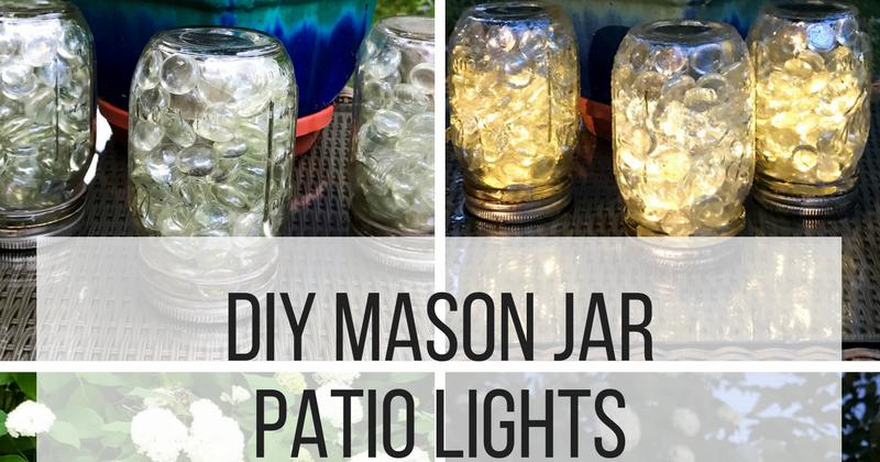 DIY Mason Jar Patio Lights   Doused In Pink | Chicago Fashion + Lifestyle  Blog