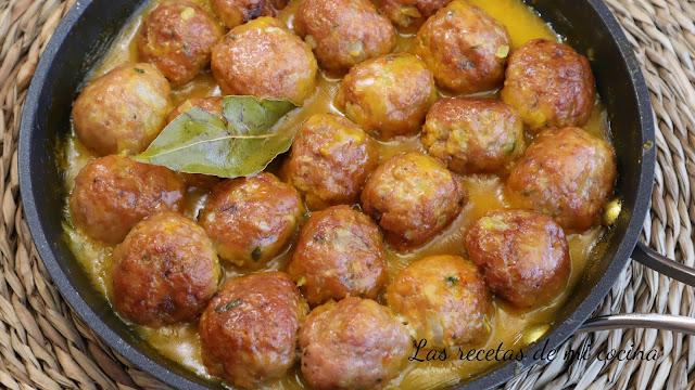 Albóndigas en salsa de azafrán