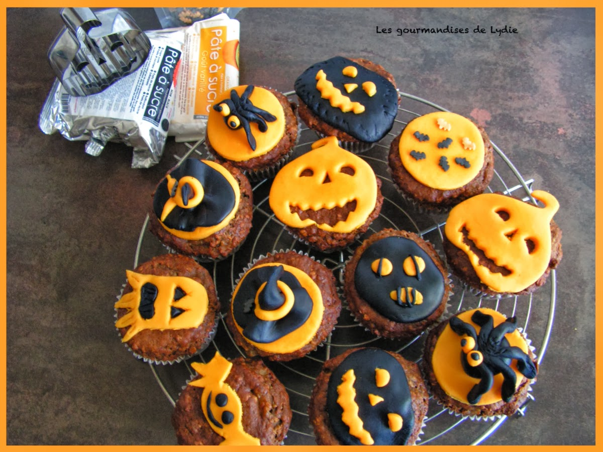 les gourmandises de lydie muffins aux poires d co halloween. Black Bedroom Furniture Sets. Home Design Ideas