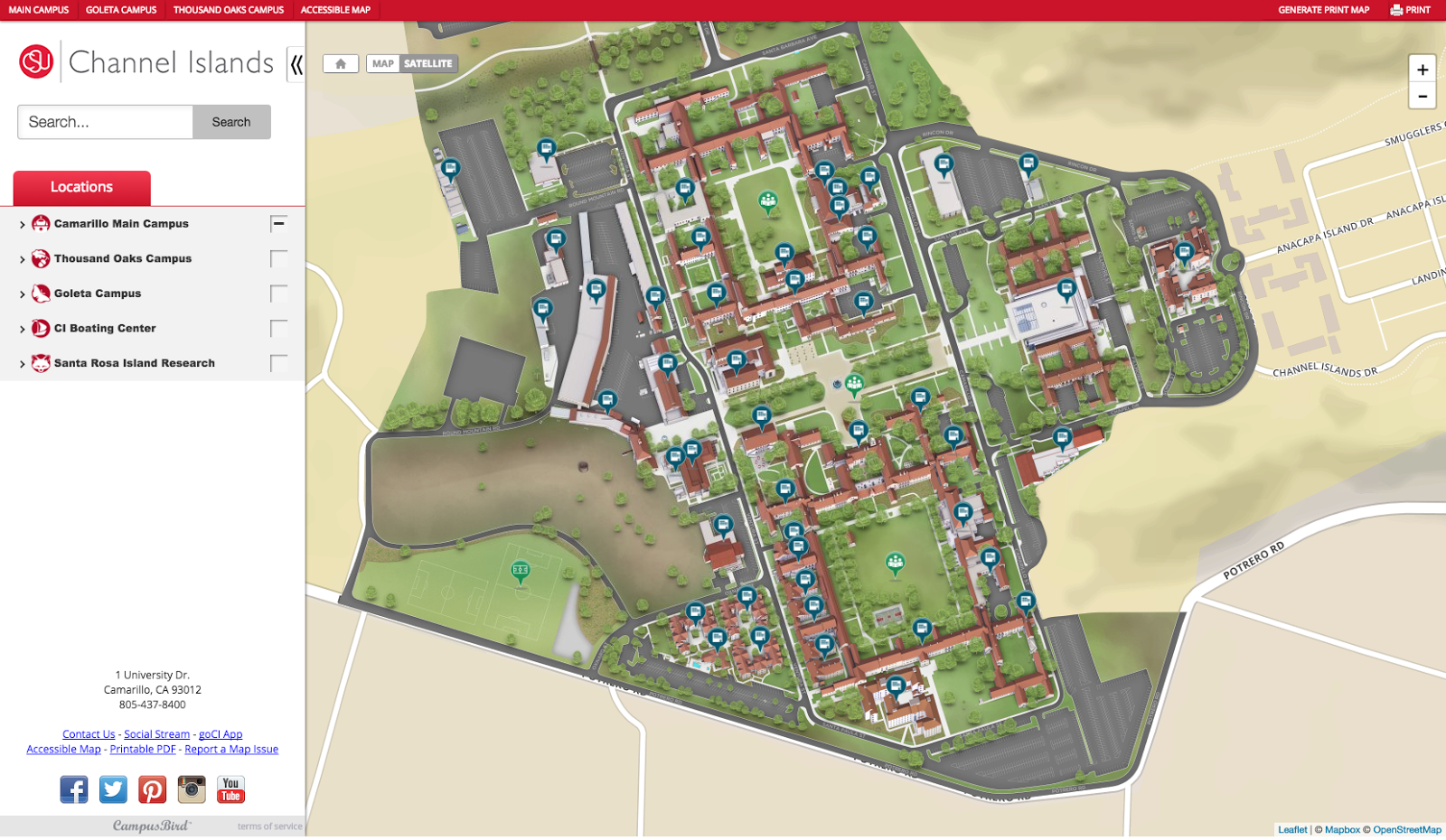 Csu Channel Islands Campus Map CSUCI Launches new interactive campus map | CI Web Services Blog