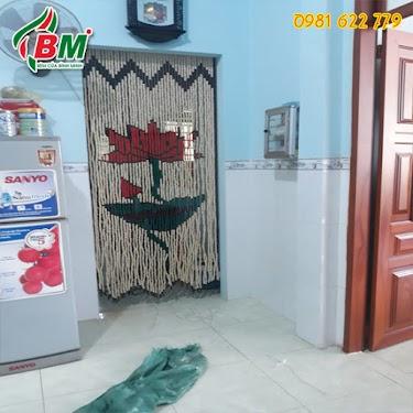 Rèm hạt gỗ mẫu hoa sen cho phòng thờ và phòng khách phong thủy đẹp.thiết kế bởi rèm BÌNH MINH đồng xoài.