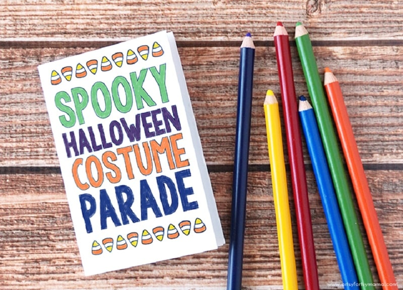 Halloween mini coloring in book