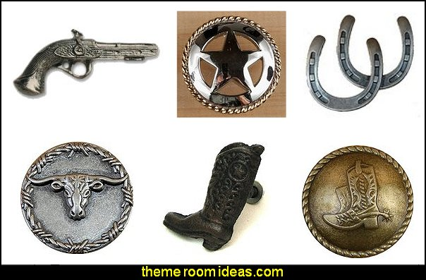 Western Drawer Pulls  cowboy theme bedrooms - rustic western style decorating ideas - rustic decor - cowboy decor - Cowboy Bedding Western bedroom decor - horse decor - cowboy wall murals horse wall murals