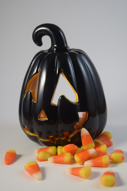 candy corn with pumpkin