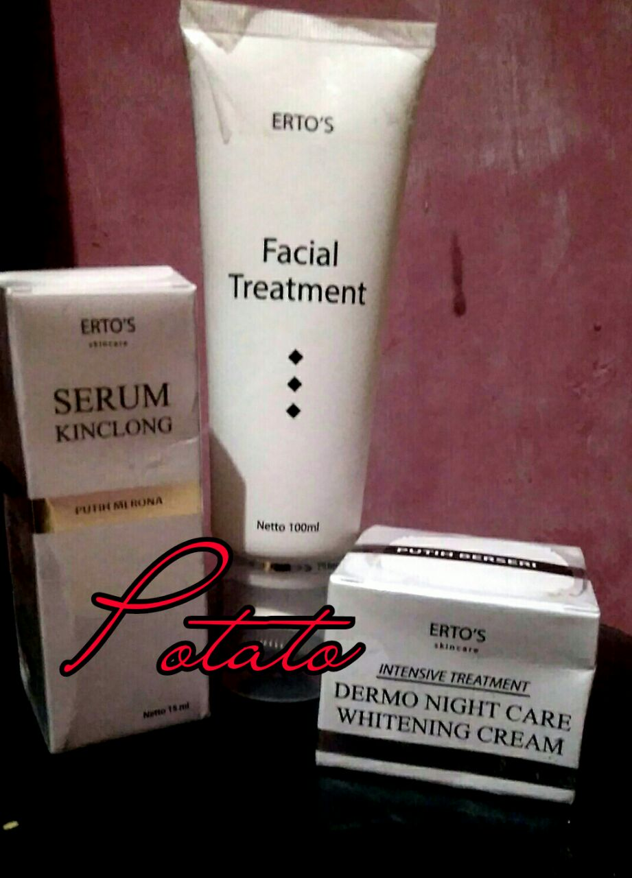 Review Ertos Skin Care Sad Story Night Cream Statement Di Kulit Temenku Bagus Akhirnya Aku Beli Lah 3 Produk Dari Yaitu Facial Treatment Serum Kinclong Dermo Whitening