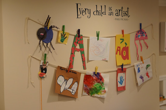 Every Child is an Artist Playroom wall art