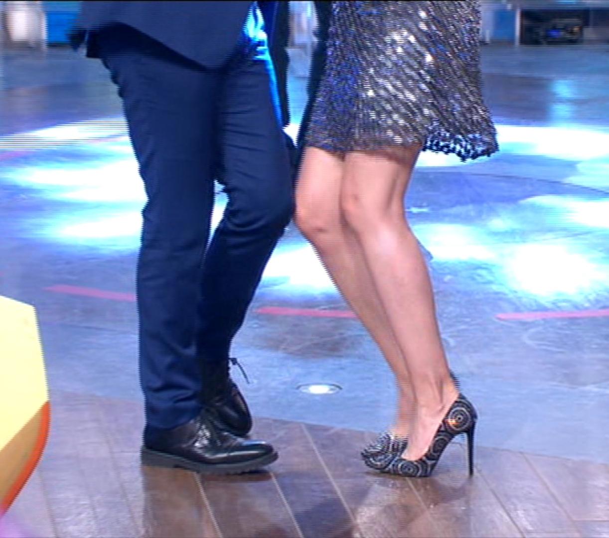 Giovanna Civitillo balla con Amadeus i soliti ignoti 1 giugno