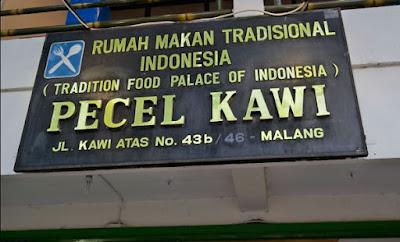 makanan khas malang tempo dulu pecel kawi malang