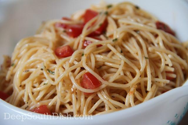 Deep South Dish Cold Vermicelli Spaghetti Salad