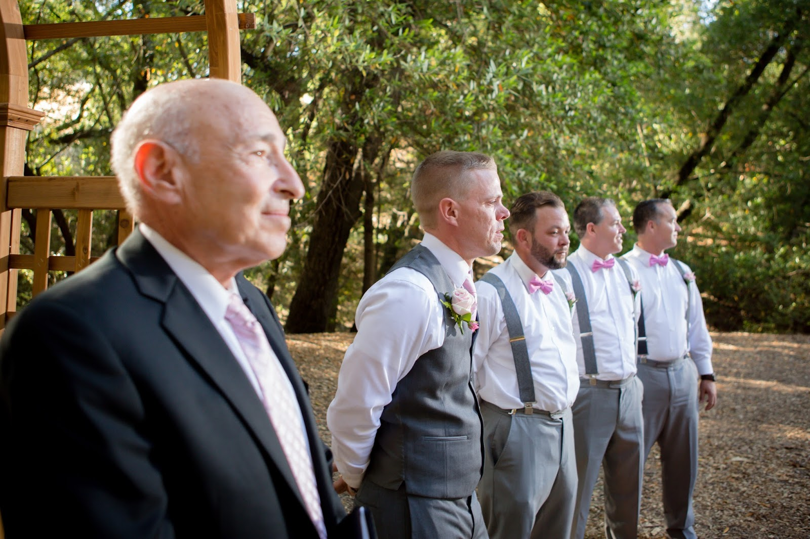 groomsman waiting at the alter