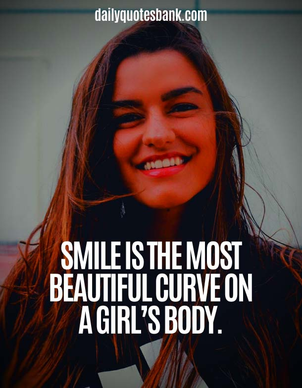 Smile Quotes About Beauty Of Girl and Woman