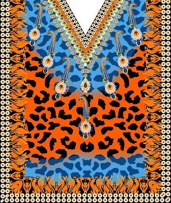 Lavanya-Geometric-Textile-Kaftan-67-Front