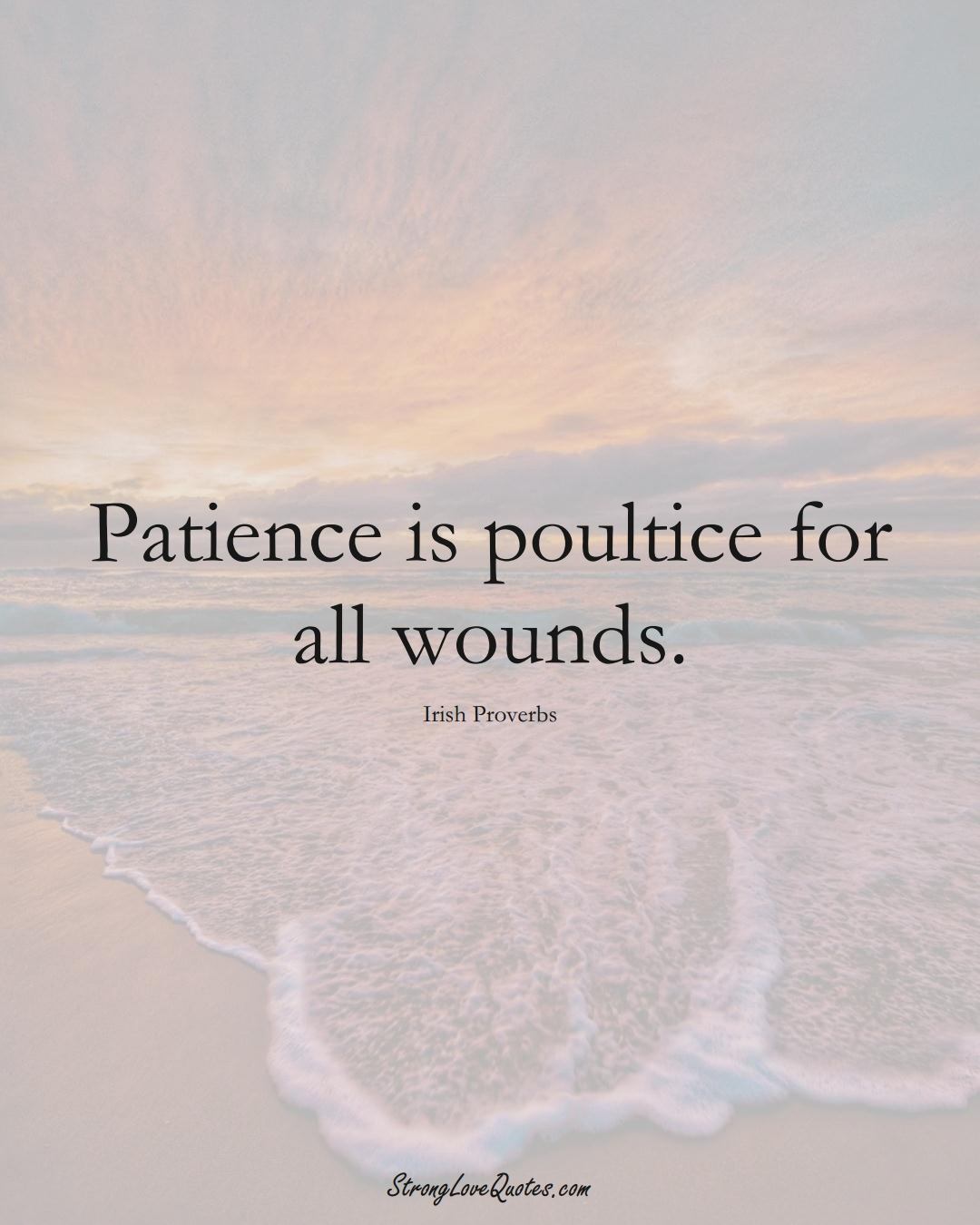 Patience is poultice for all wounds. (Irish Sayings);  #EuropeanSayings