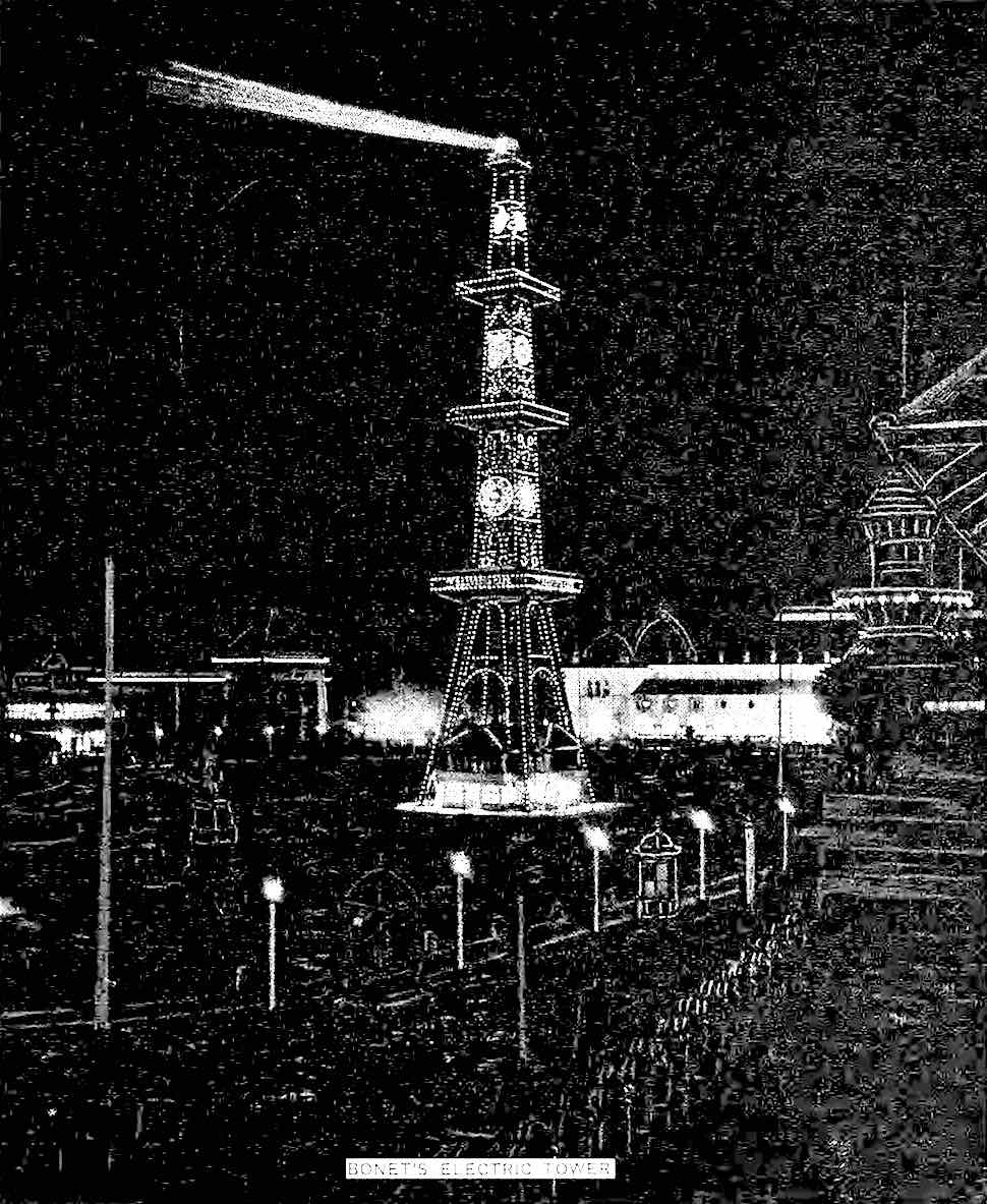 Bonet's Electric Tower at the 1893 World's Fair in Chicago