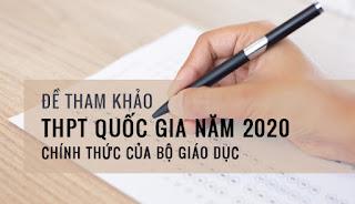 Bộ GDĐT công bố đề thi tham khảo kỳ thi THPT quốc gia năm 2020