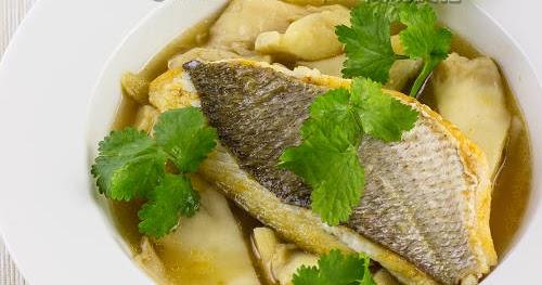 香煎魚柳配蠔菇清湯【鮮甜可口】 Snapper in Oyster Mushroom Soup | 簡易食譜 - 基絲汀: 中西各式家常菜譜