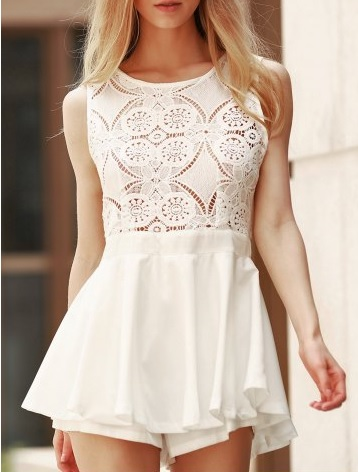 white lace dress rosegal