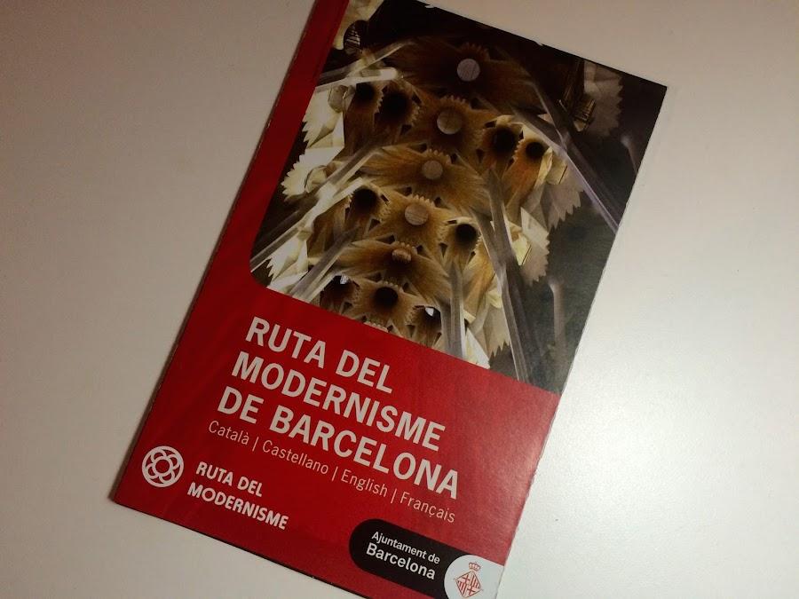 ルータ・デル・モデルニスモの地図(El mapa de la Ruta del Modernisme de Barcelona)
