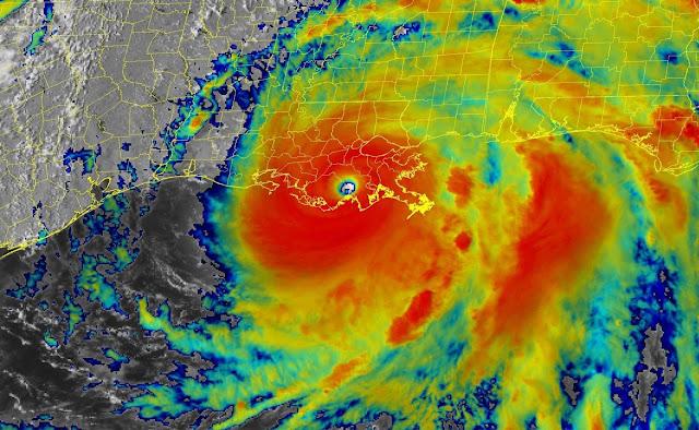El peligroso Ida moviéndose hacia el norte sobre el sureste de Louisiana