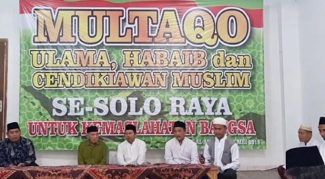 Multaqo Ulama dan Habaib Solo Raya Tegaskan 'People Power' Bentuk Pemberontakan