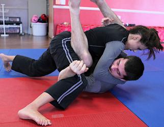girl wrestling grab Boy crotch