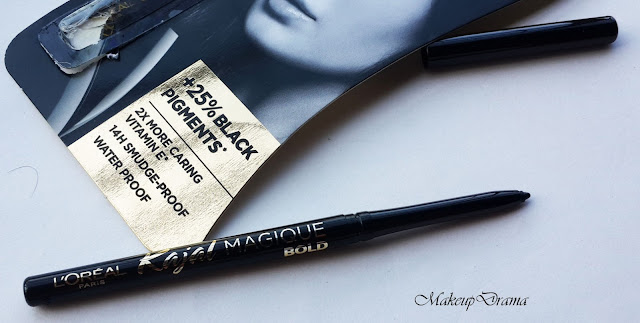 L'Oreal Paris Kajal Magique Bold: Review, Swatches, L'Oreal Paris Kajal Magique Bold, L'Oreal Paris Kajal Magique Bold India Review, L'Oreal Paris Kajal Magique Bold India,  darkest, blackest & Boldest kajal, Khol, Best kajal, Kajal India, Eyeliner, Eyeliner India, Kajal Magique Bold, Loreal Kajal, Loreal eyeliner, Blackest kajal, darkest kajal, Best kajal, Bold kajal, The Magique Bold Kajal, Black kajal, Black eyeliner, Loreal black kajal.