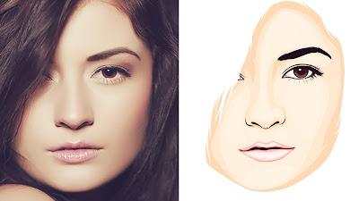 Photoshop vector vexel face tutorial