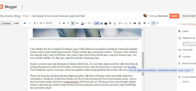 hapus broken link yang terdeteksi di artikel blog