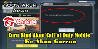 Cara Bind Akun Guest Call of Duty Mobile Ke Akun Garena
