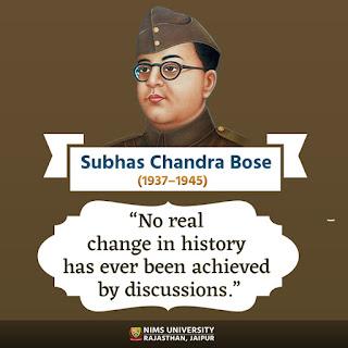 Netaji Subhas Chandra Bose Jayanti : Nims University