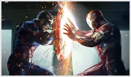 Captain America : Civil War - Captain America v Iron Man
