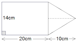 combined figure of rectangle and triangle