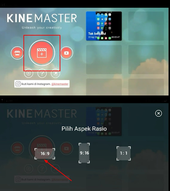 Choose the aspect ratio in Kinemaster