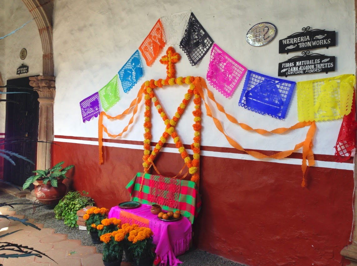 Ofrendas for Day of the Dead in Patzcuaro at Casa de los Once Patios