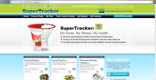 Use Supertracker To Keep You On Track Eat Smart Be Fit Maryland