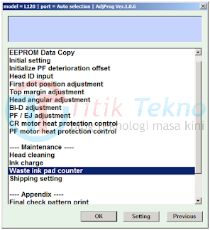 Cara Reset Printer Epson L120