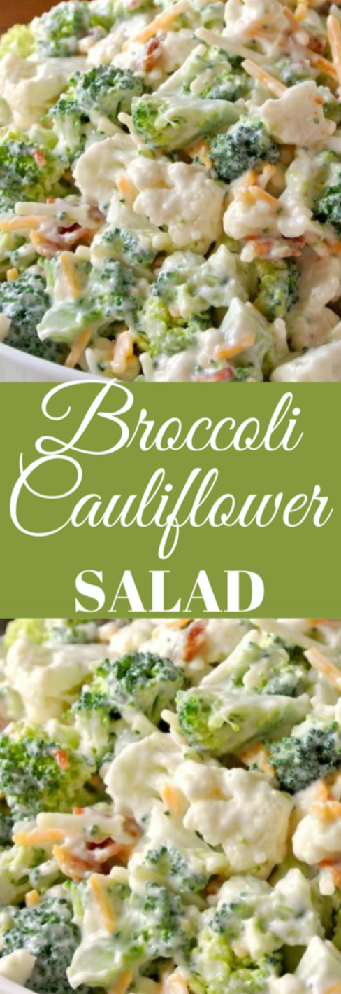 Broccoli Cauliflower Salad #cauliflower #vegan #salad #breakfast #vegetarian