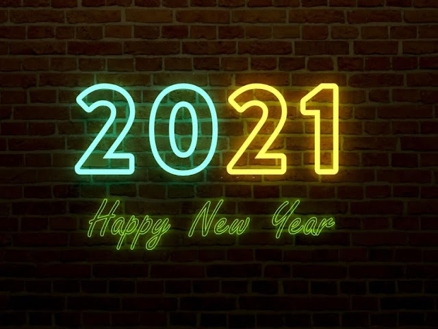 Neon Style Happy New Year 2020 HD Wallpaper