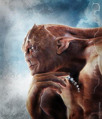 Imagen de monstruo  con blender programa de animación 3D