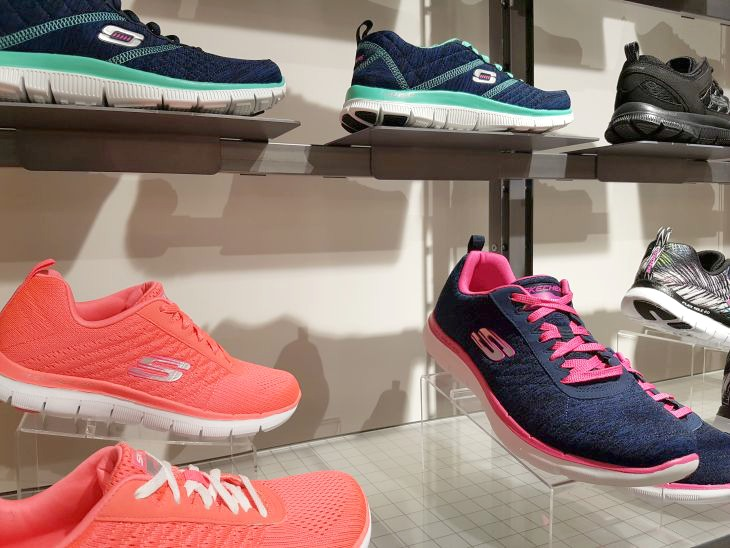 skechers baskets colorées pour le printemps