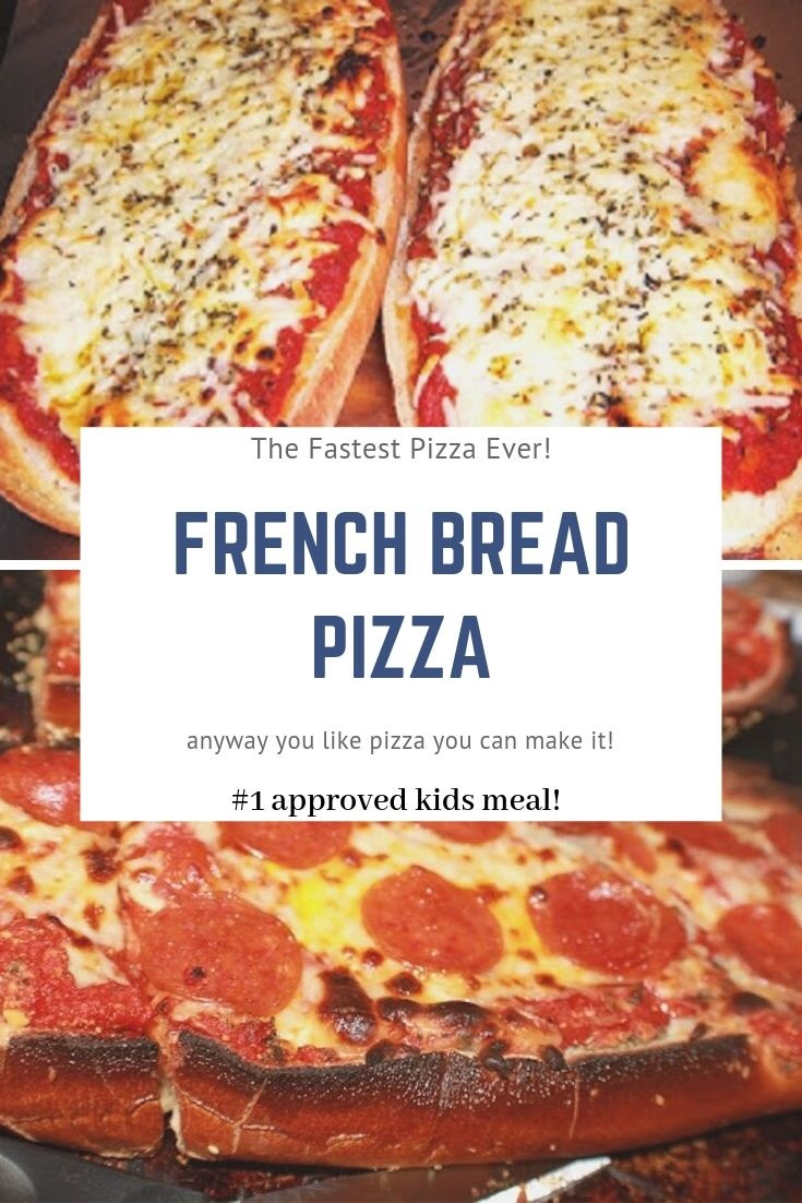 pin for later French Bread pizza