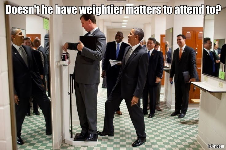 Funny President Obama Weight Scales Prank Meme Picture - Doesn't he have weightier matters to attend to?