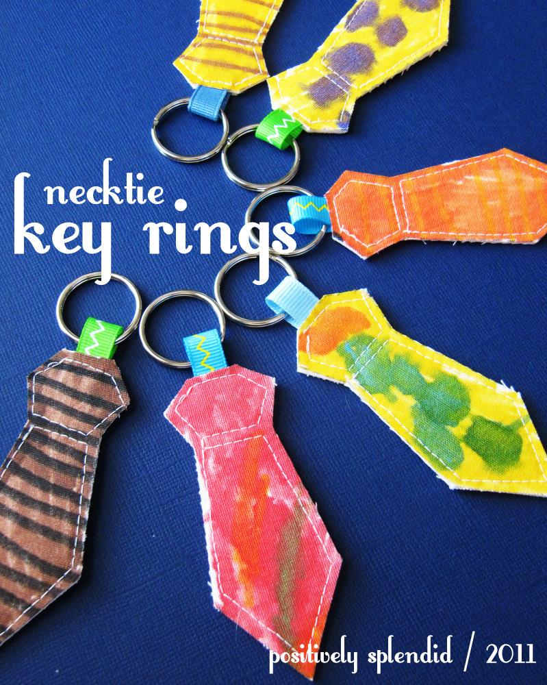 Necktie Key Ring Tutorial - Positively Splendid  Crafts bf79f0cf5