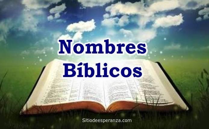 Nombres Bíblicos para tu bebé