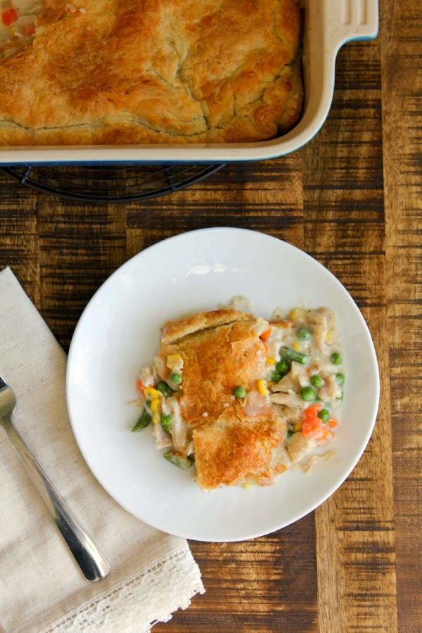 Chicken Pot Pie With Puff Pastry Crust