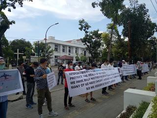 Minta Dipindahkan Ke Negara Ketiga,  Ratusan Pengungsi Afghanistan Unjuk Rasa di Medan